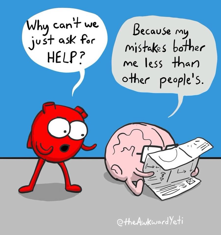 heart and brain comic