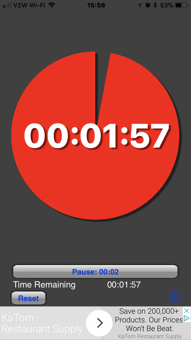 screenshot of visual timer