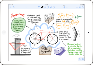 screenshot of notability app on ipad